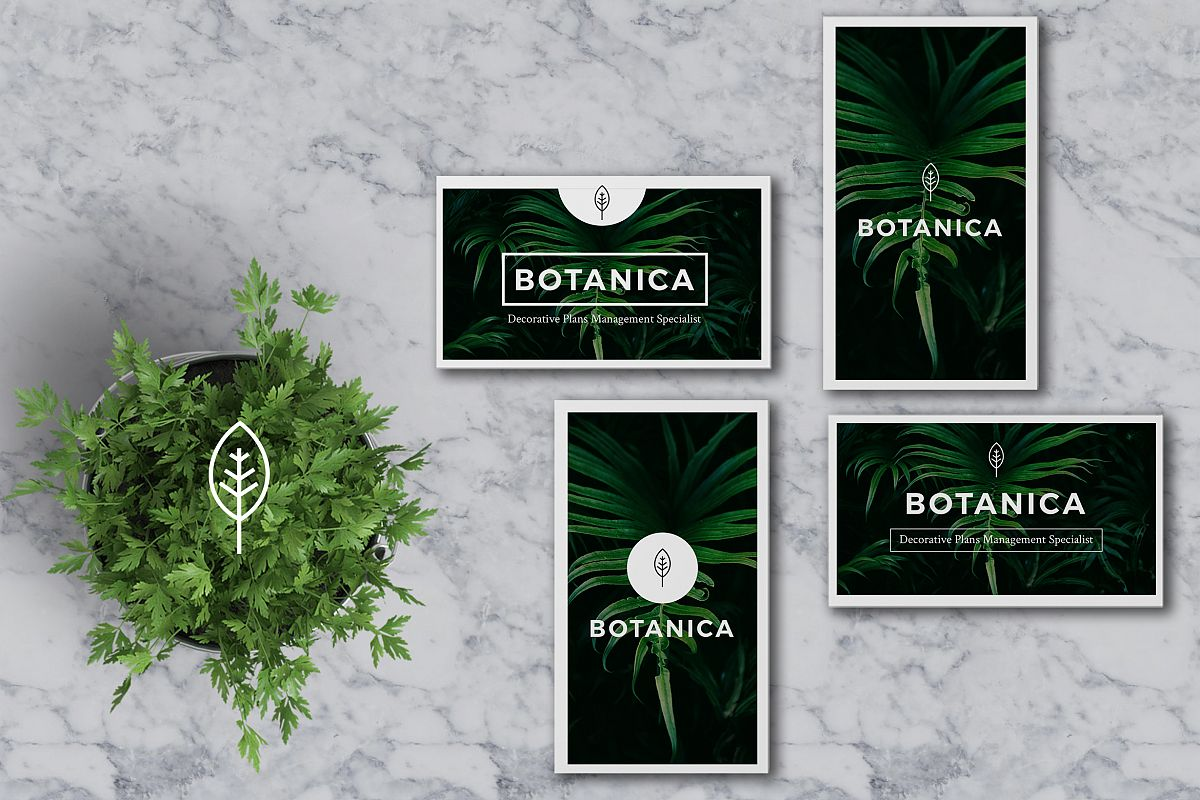 BOTANICA Business Card Template example image 1