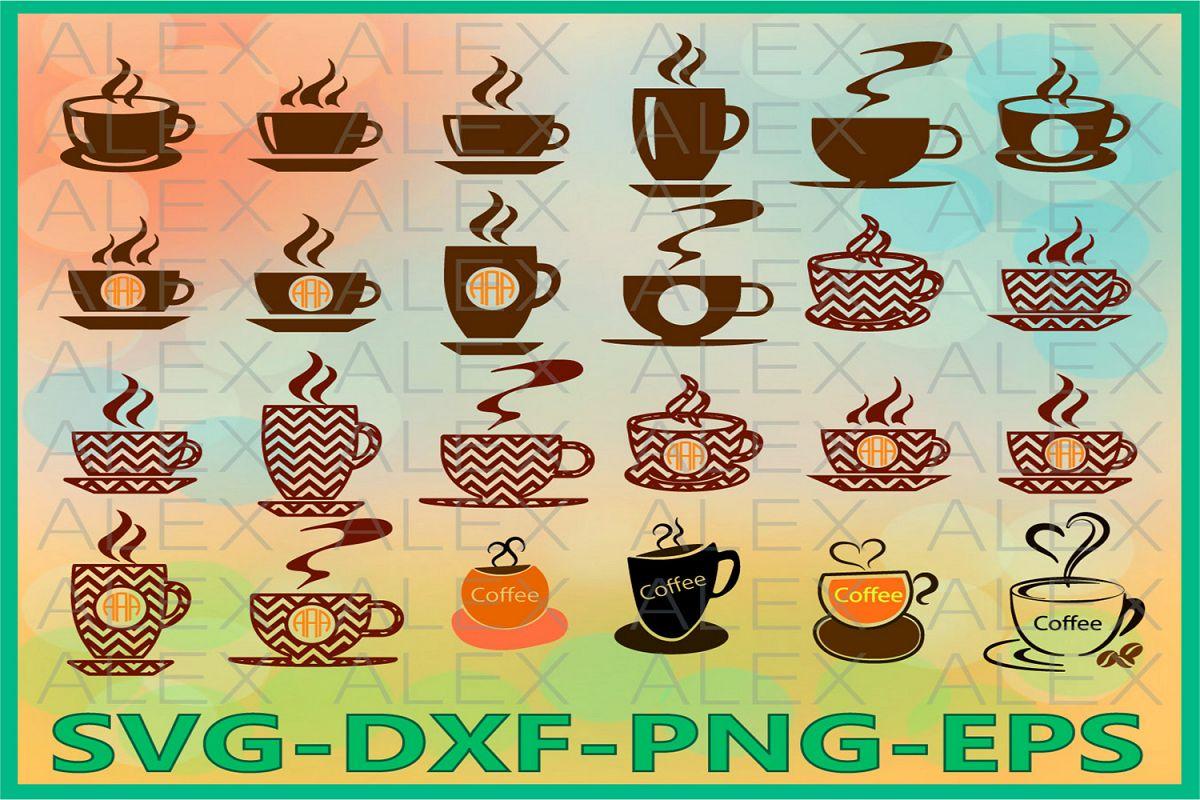 Coffee SVG Files, Coffee Monogram Svg Files example image 1