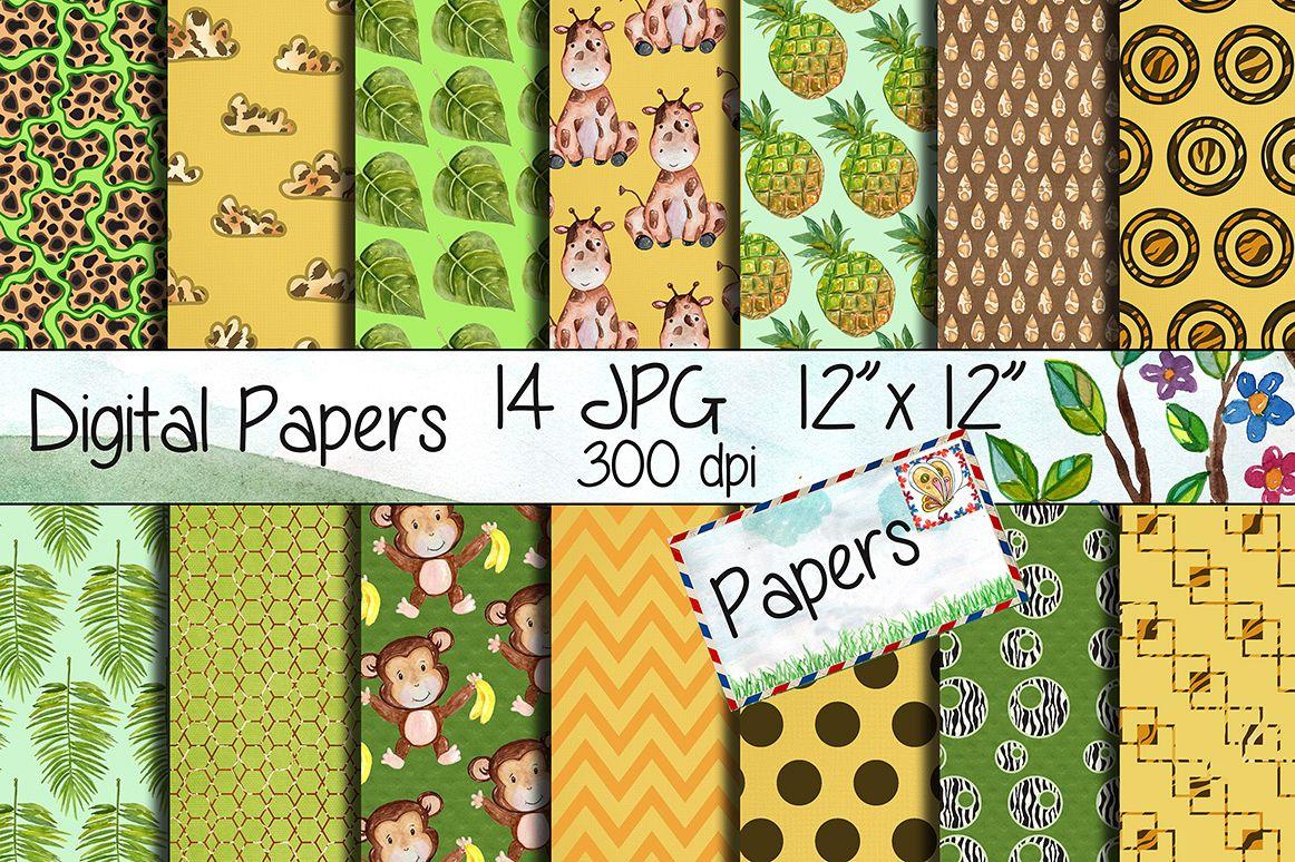 Safari Digital Paper Pack example image 1