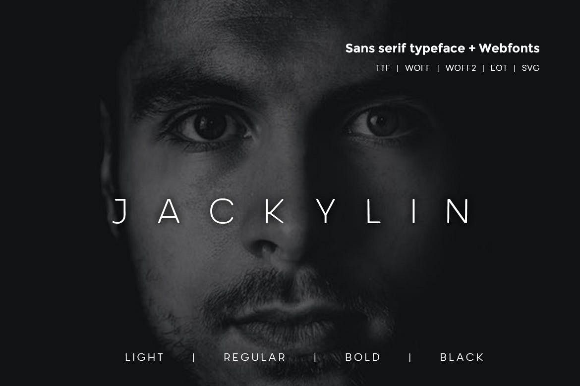 Jackylin - Typeface WebFont with 4 weights example image 1