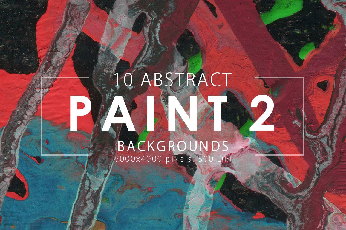 Abstract Paint Backgrounds Vol.2 example image 1