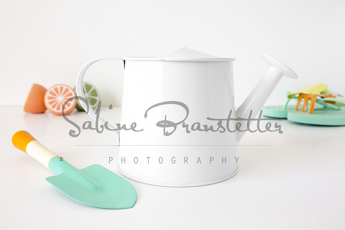 Styled Stock Photography White Watering Can Spring Mockup example image 1