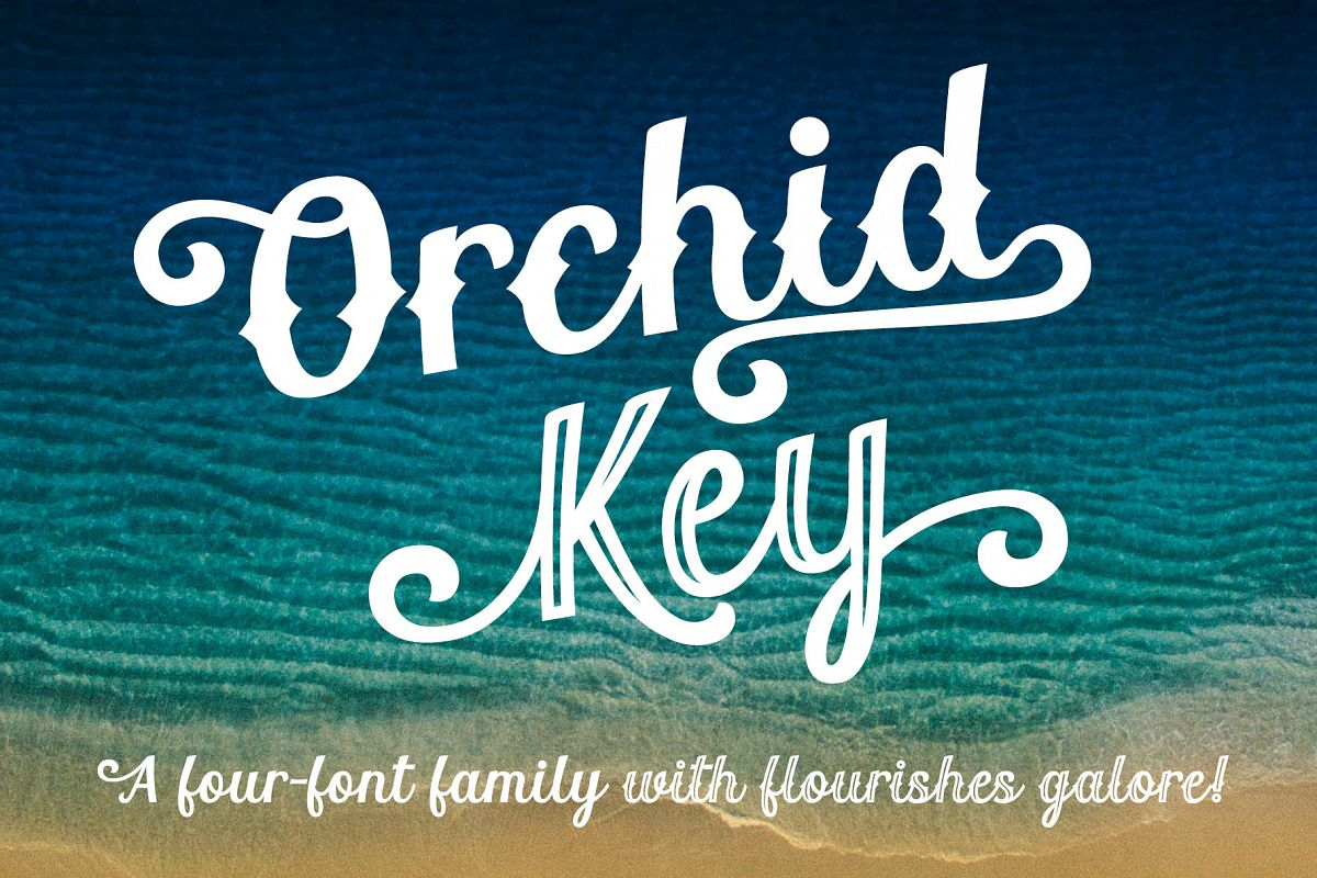 Orchid Key - a four-font family with alternates galore! example image 1