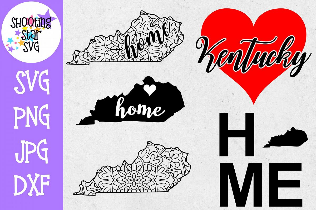 Kentucky US State SVG Decal Bundle - 50 States SVG example image 1