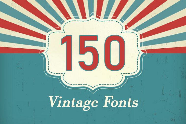 150 Premium Vintage Fonts example image 1