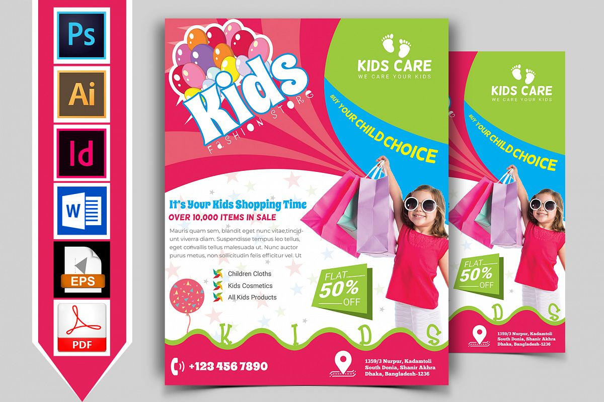 Kids Fashion Shop Flyer Vol-01 example image 1