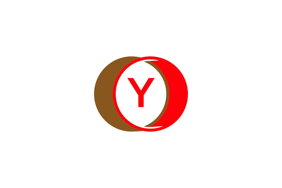 y letter circle logo example image 1
