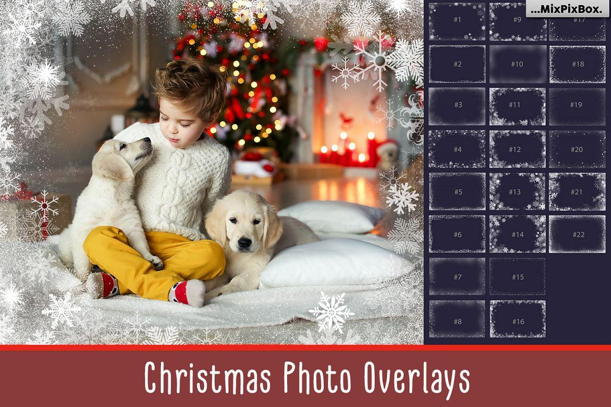 20 Christmas Photo Overlays example image 1