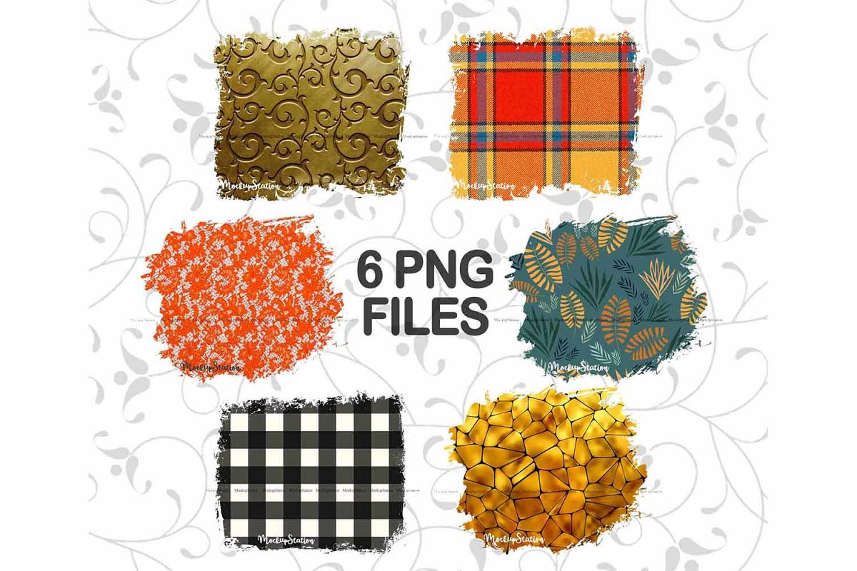Fall Sublimation Background PNG Bundle, Thanksgiving Frame example image 1