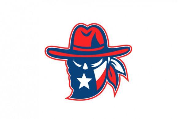 Texan Outlaw Texas Flag Mascot example image 1
