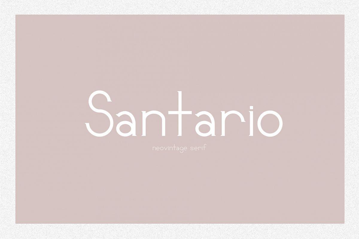 Santario | a serif font example image 1