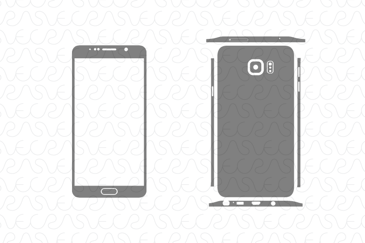 Samsung Galaxy Note 5 Decal Cut File Vector Template 2015