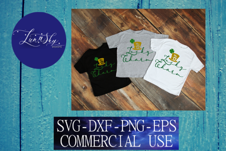 Mr Lucky Charm, St Patricks Day, SVG, DXF, PNG, EPS example image 1