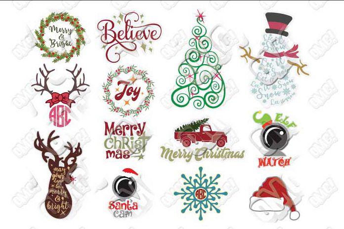 Christmas Svgs Free.Christmas Svg Bundle