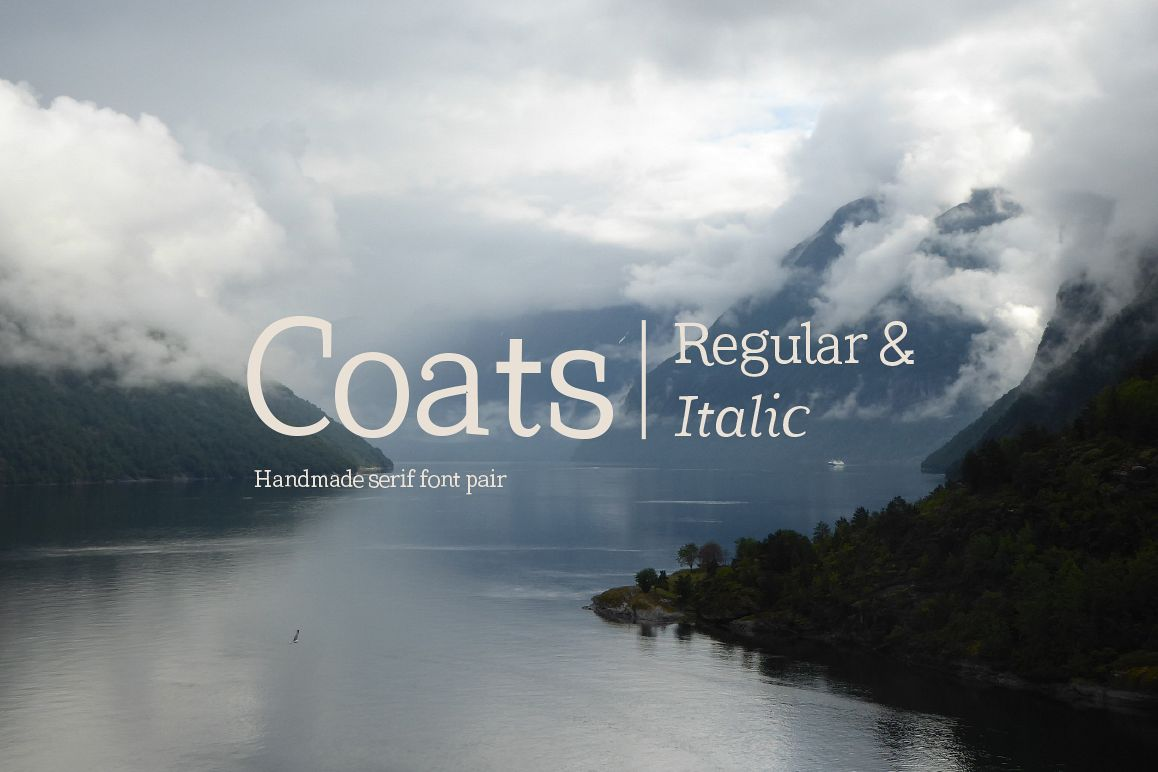Coats Regular & Coats Italic example image 1