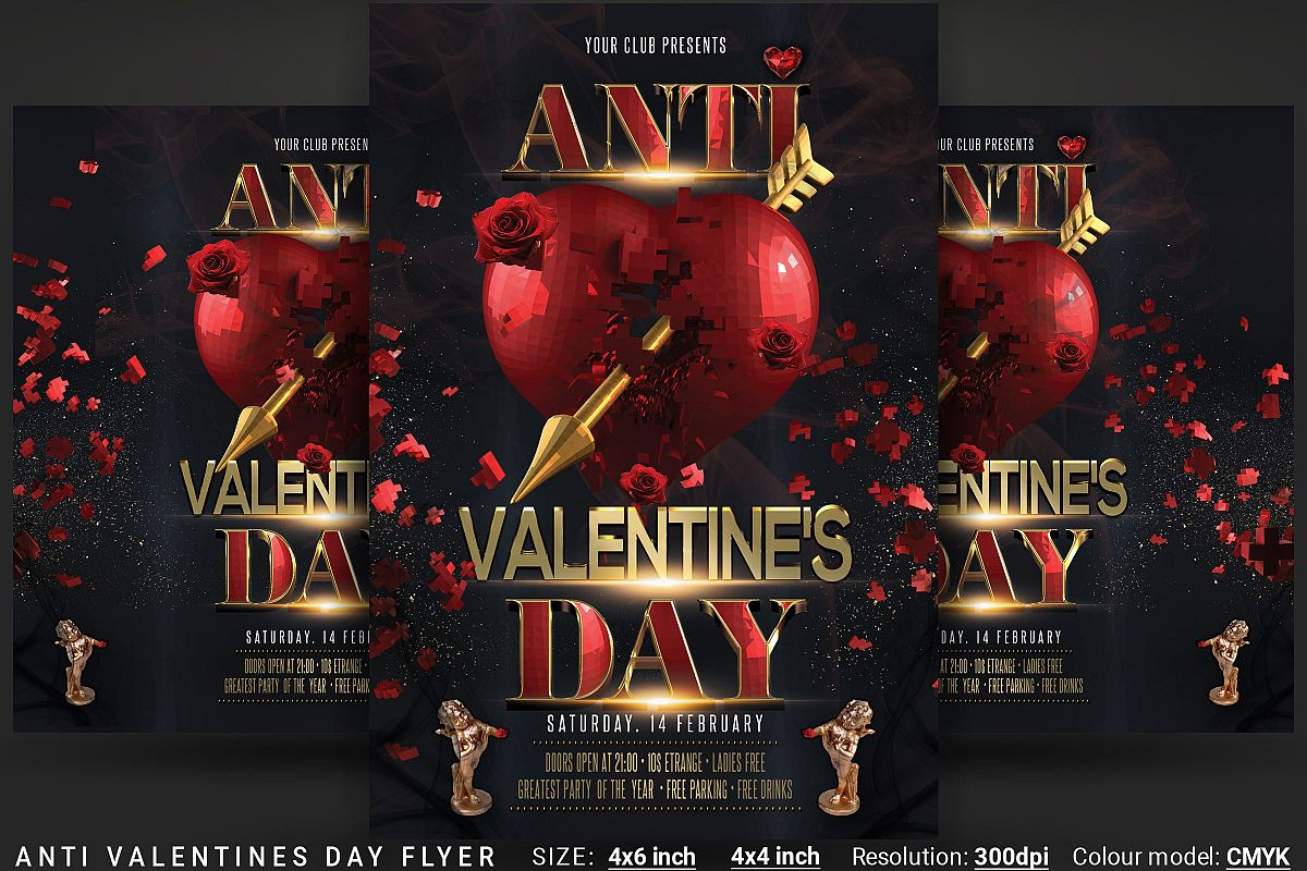 Anti Valentines Day Flyer example image 1