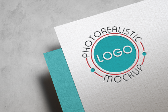Logo Mock-Up Paper Edition example image 1