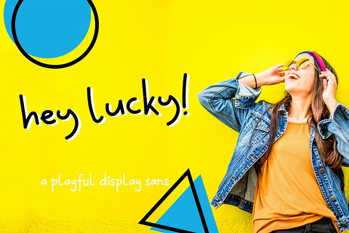 Hey Lucky! Displays Sans example image 1