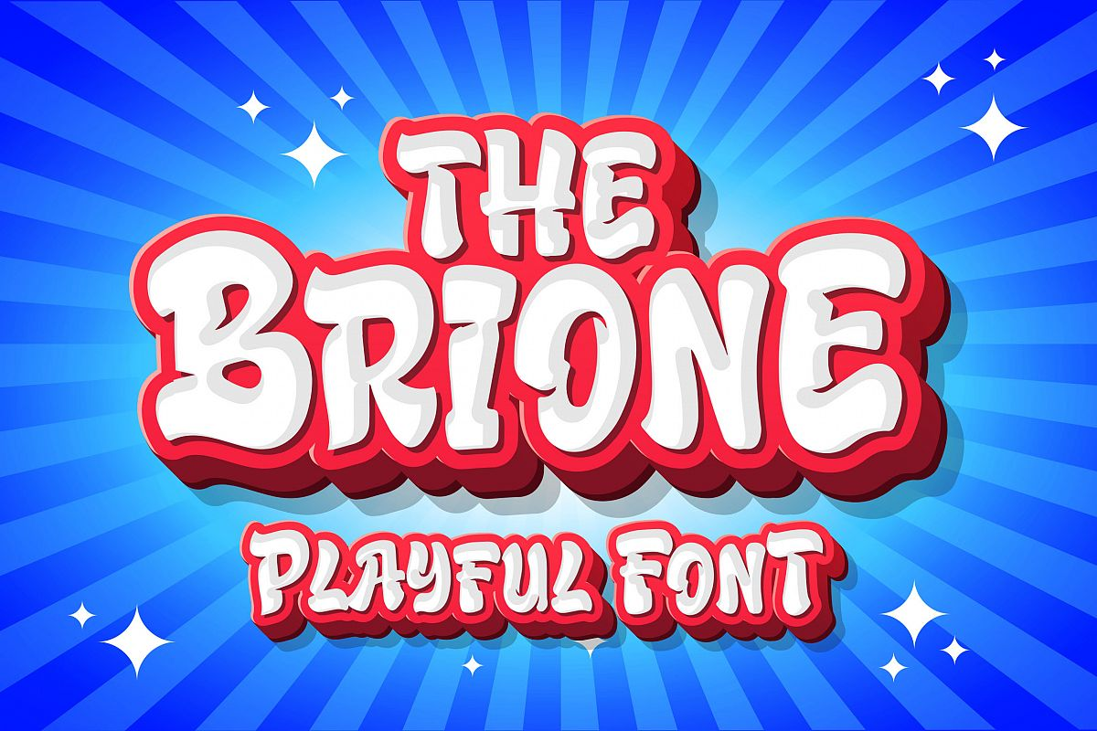 Brione - Playful Font example image 1