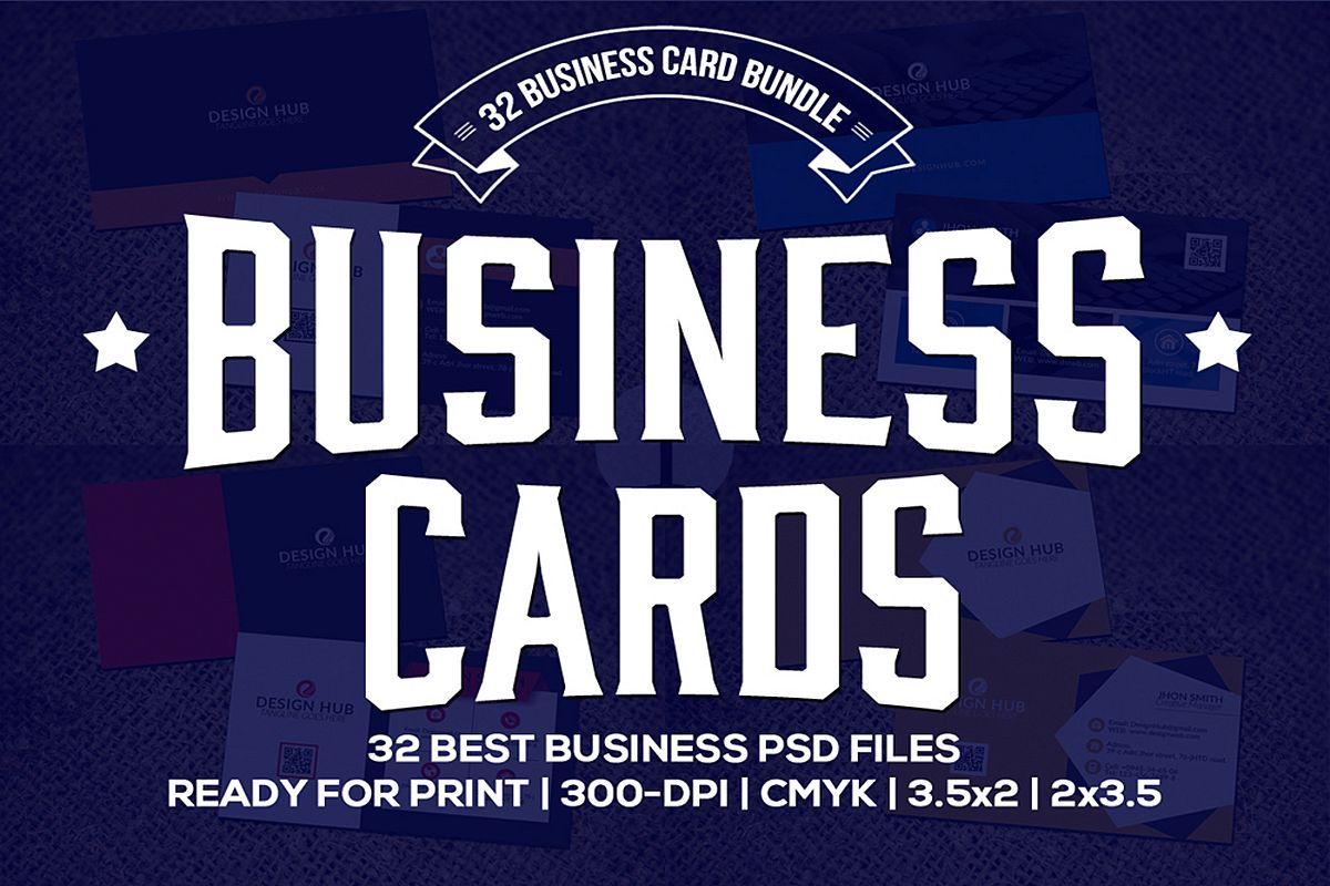 32 Business Cards Bundle Deal example image 1