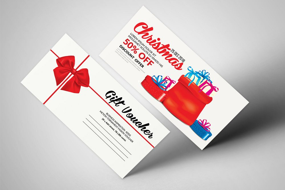 Christmas Gift Voucher Template example image 1