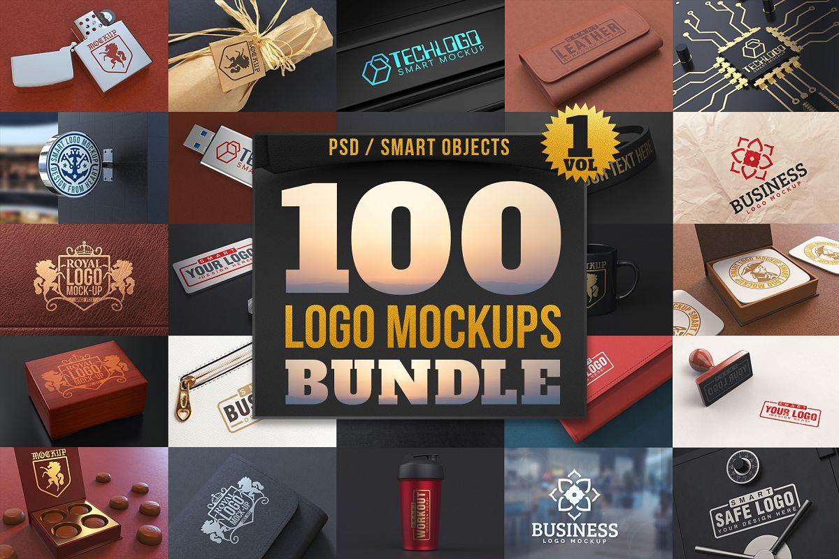 100 Logo Mockups Bundle Vol.1 example image 1