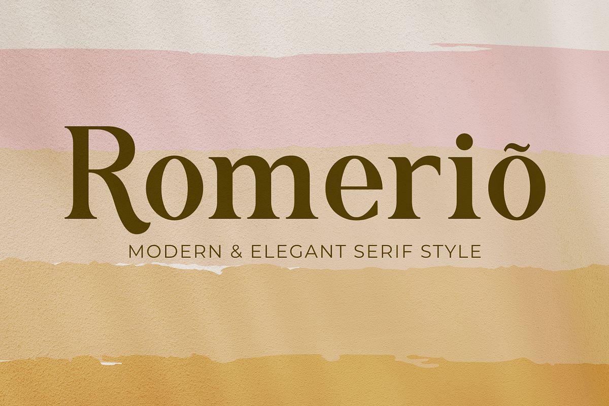 Romerio | Elegant Serif Style example image 1