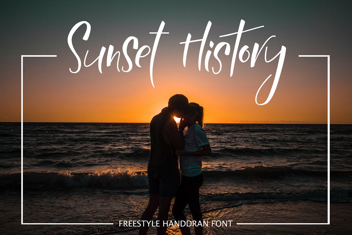 Sunset History-freestyle font example image 1
