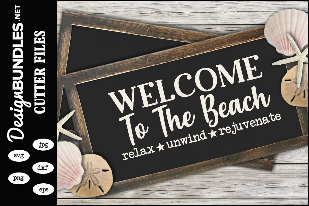 Welcome To The Beach SVG example image 1