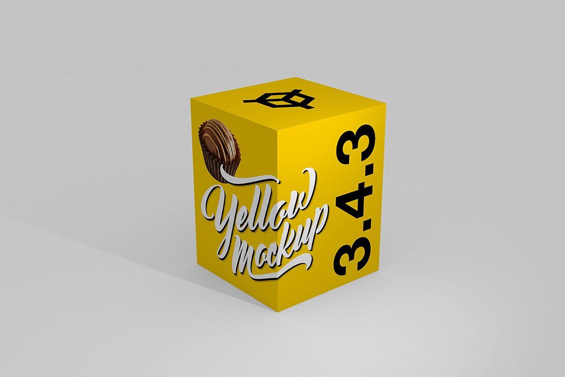 3.4.3 Simple 3D Box Mockup PSD example image 1