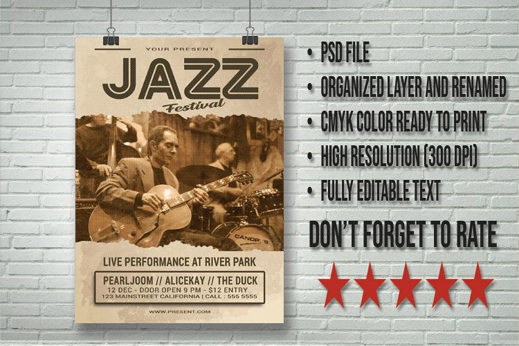 Jazz Festival Flyer example image 1