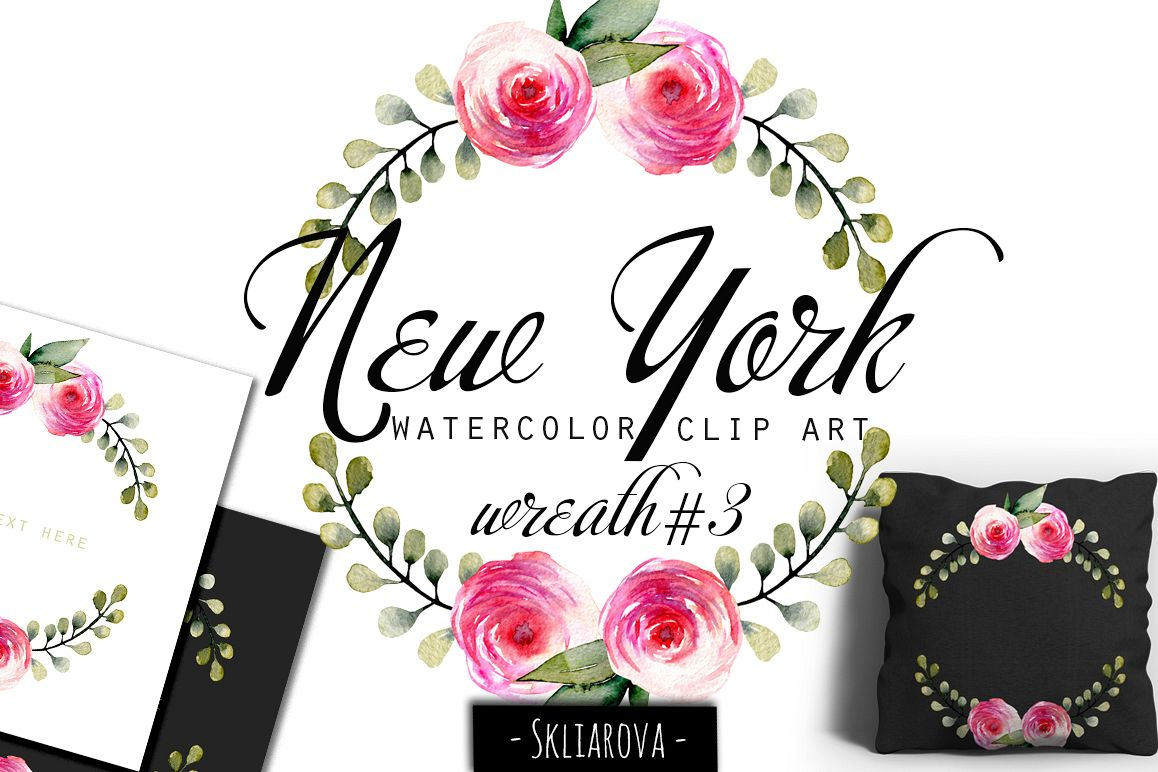"""New York"". Rose wreath #3 example image 1"