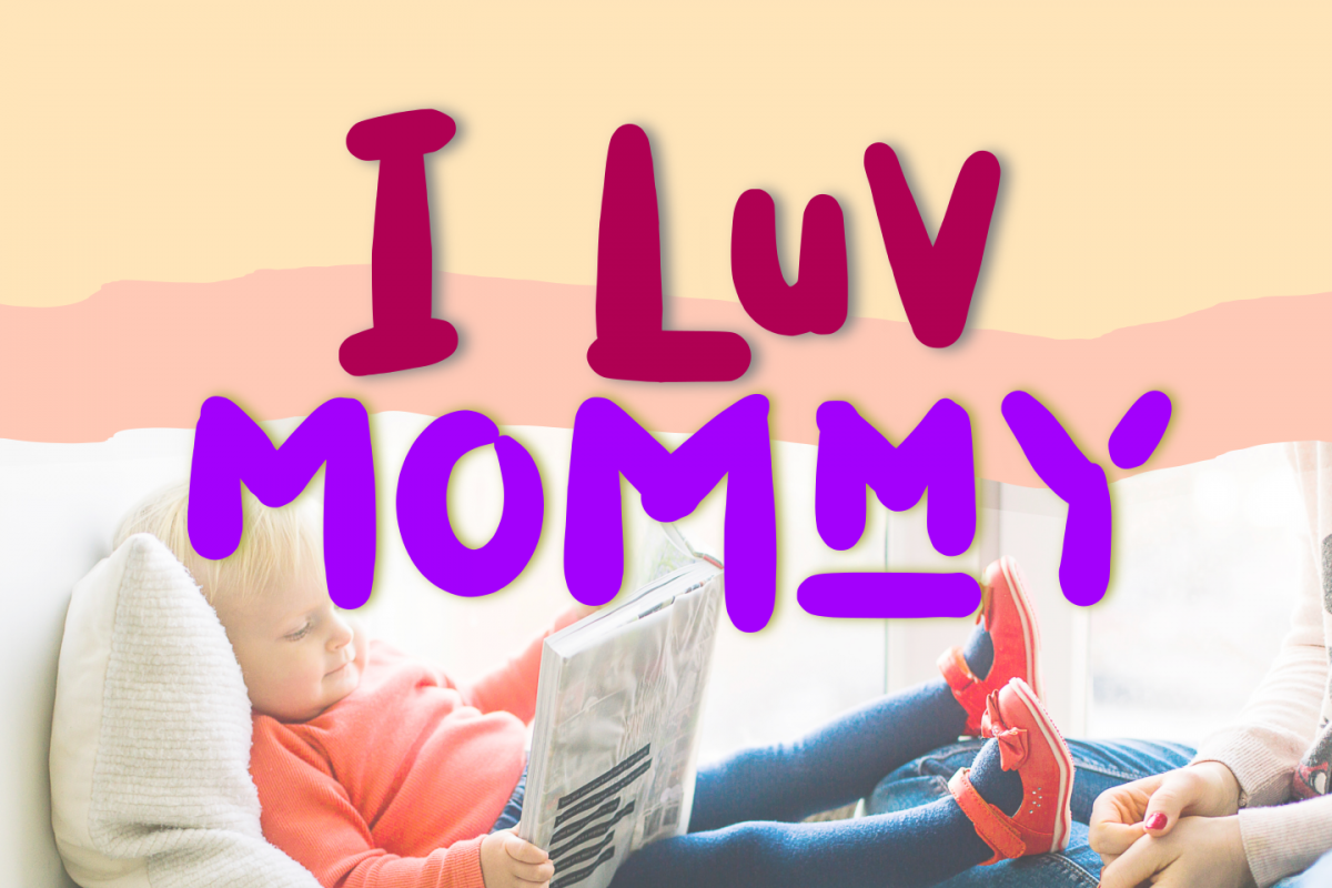 I Luv Mommy Playful font example image 1