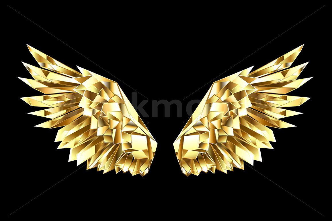 Gold Polygonal Wings example image 1