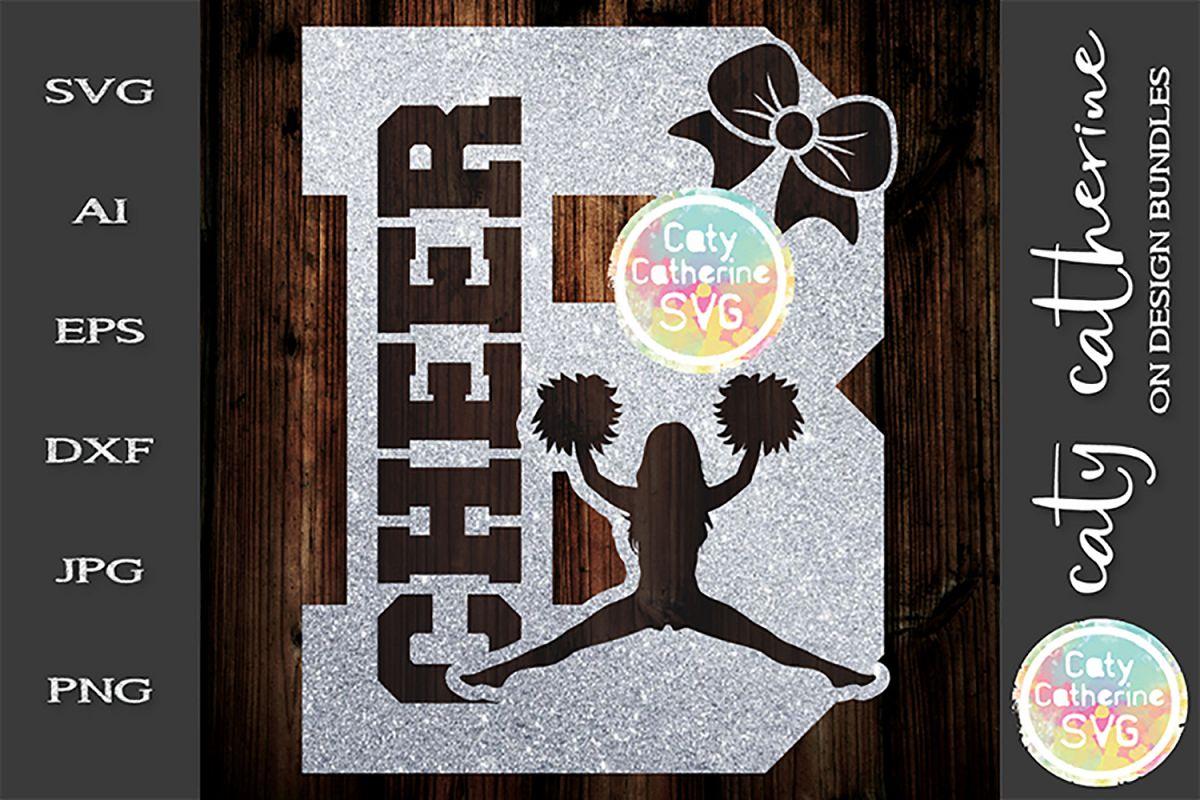 Letter B Cheerleading Monogram Letters SVG Cut File example image 1