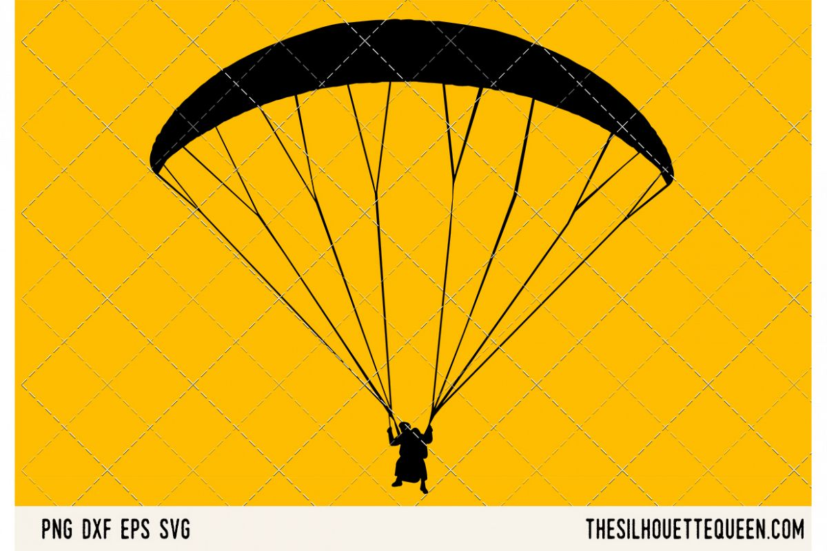 Paragliding SVG example image 1