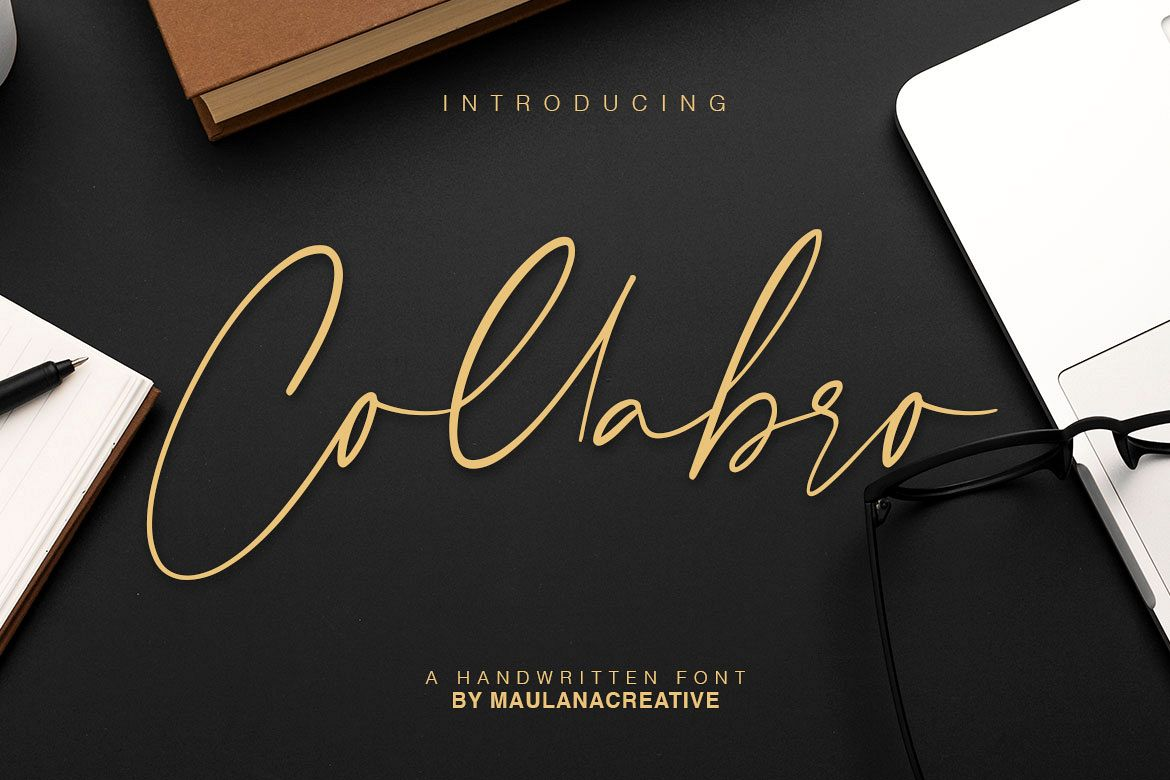 Collabro Signature Font example image 1