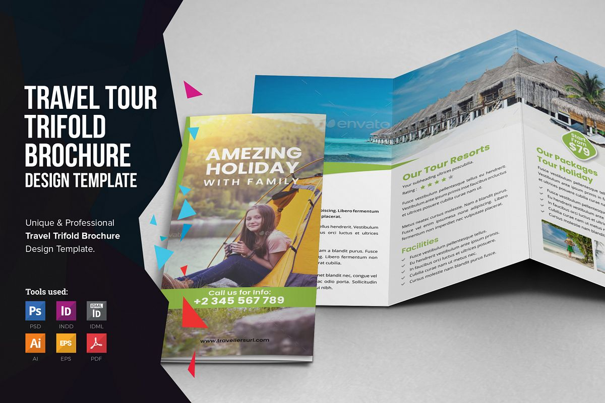 Travel Resort Trifold Brochure v3 example image 1