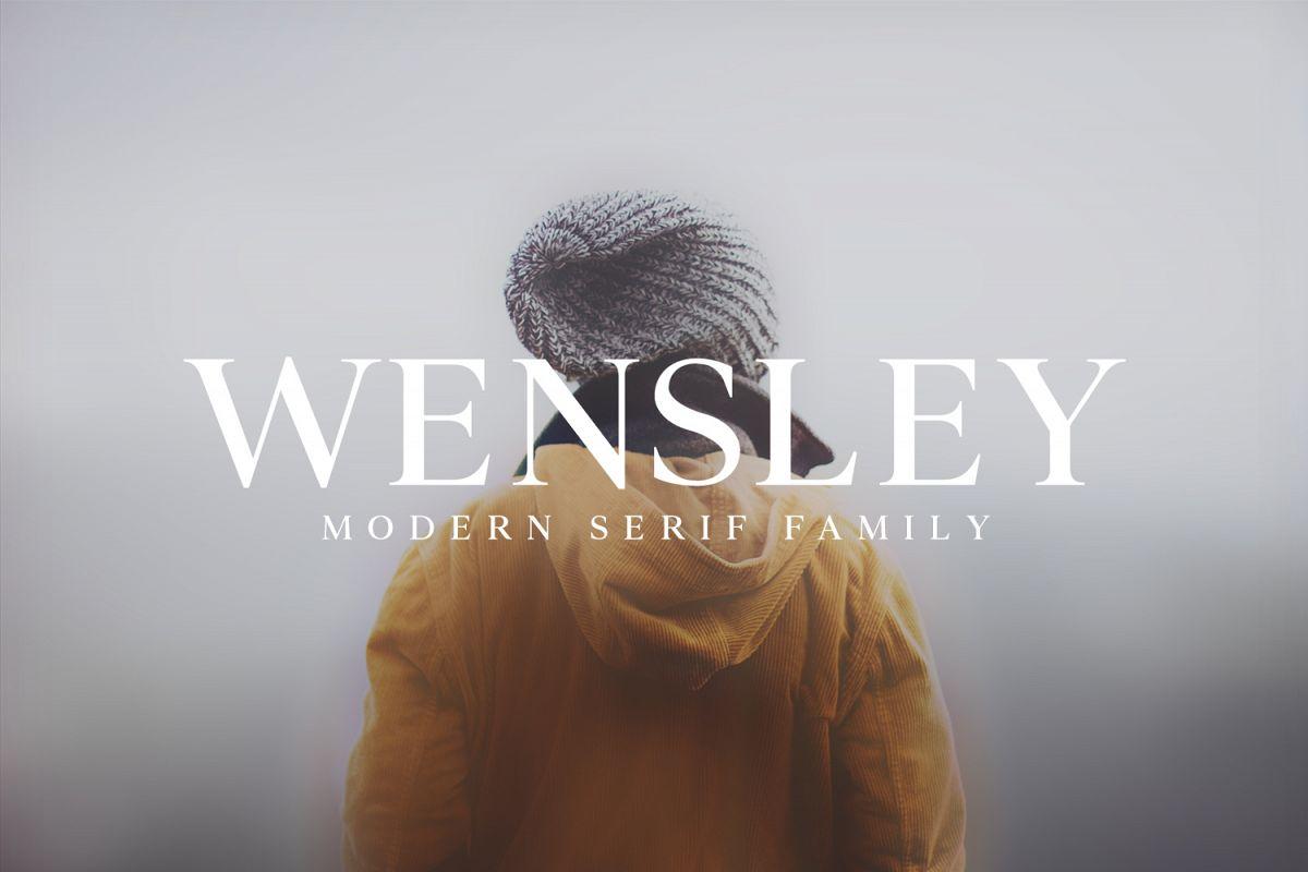 Wensley Modern Serif Font Family example image 1