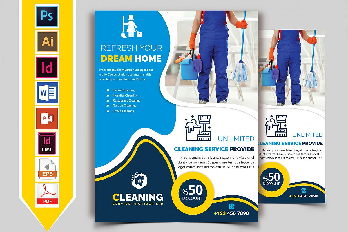 Cleaning Service Flyer Vol-05 example image 1