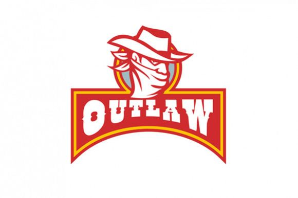 Bandit With Outlaw Text Retro example image 1
