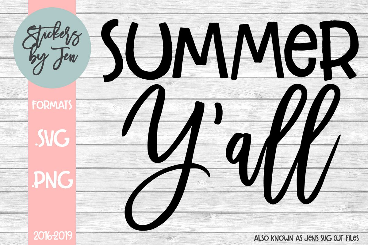 Summer Y'all svg cut file example image 1