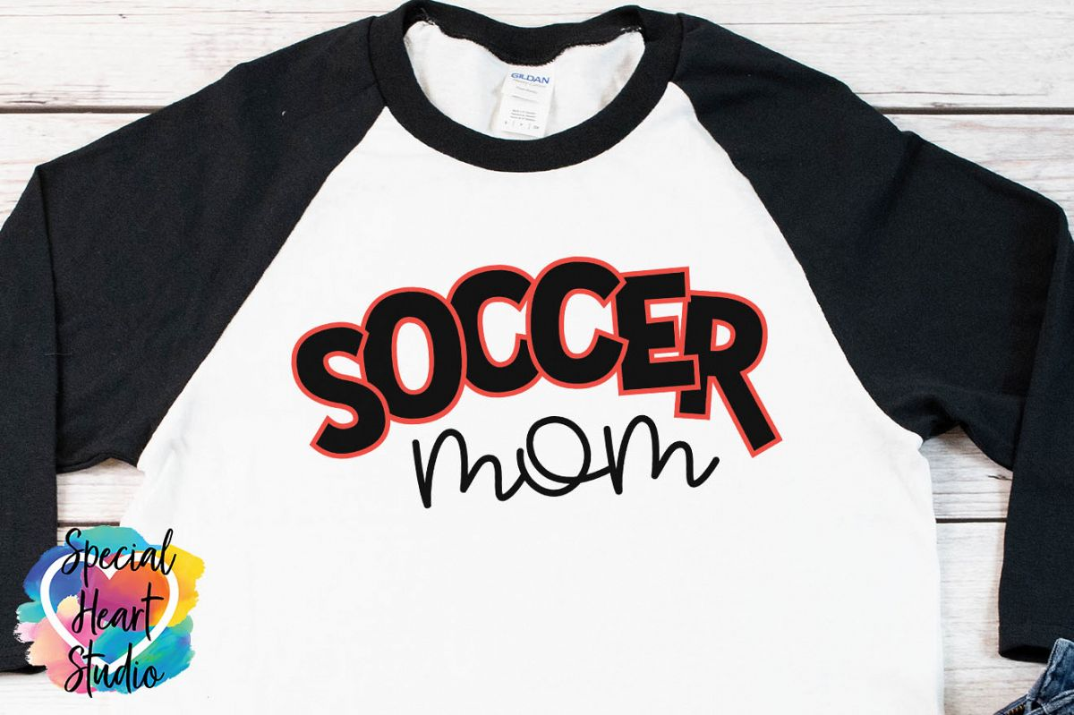 Soccer Mom - SVG - Soccer Cut file example image 1