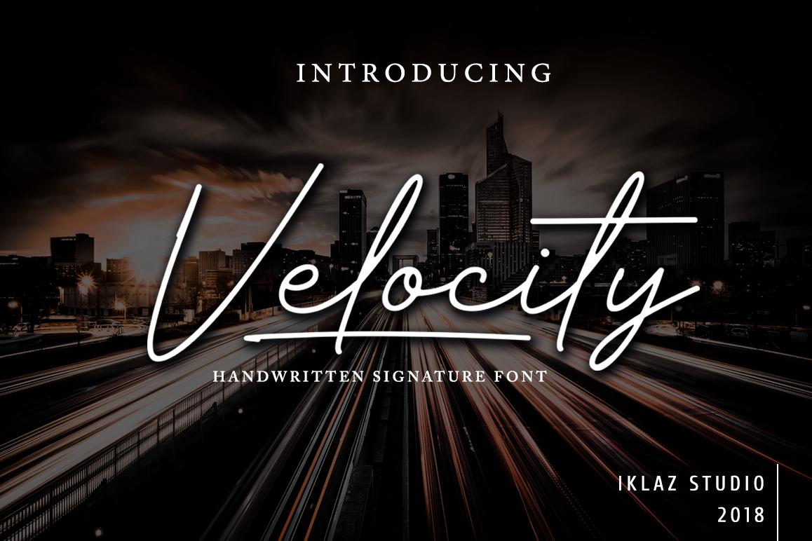 Velocity example image 1