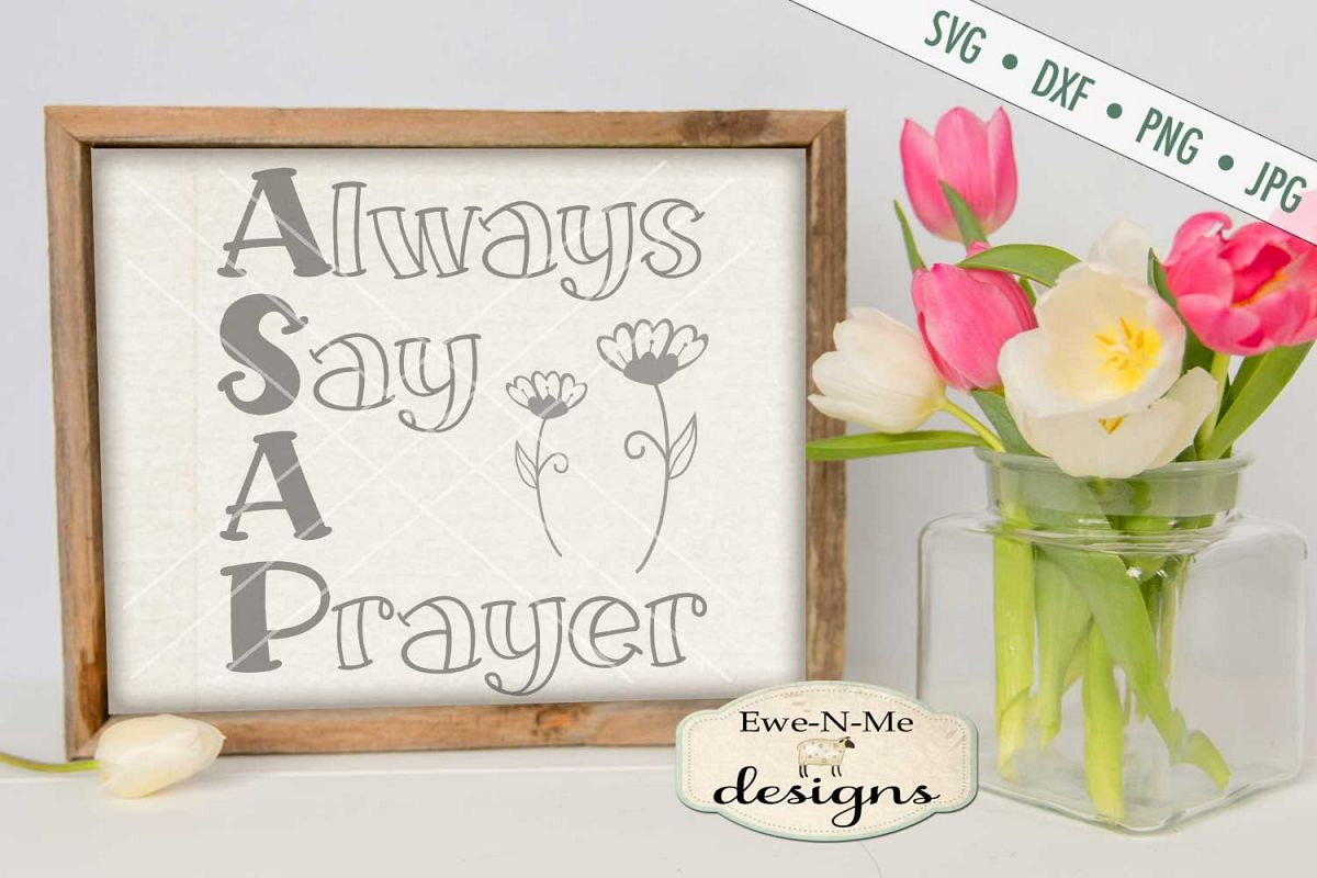 Always Say A Prayer SVG DXF Cut File example image 1