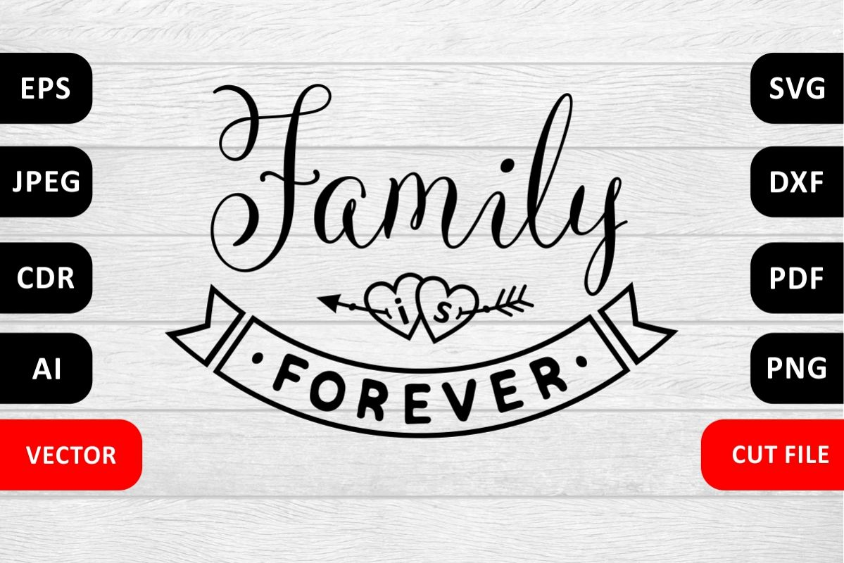 Valentine Love Family SVG Quote cut file example image 1