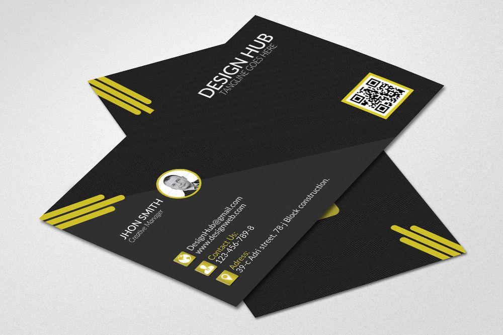 Black Stylish Business Cards example image 1