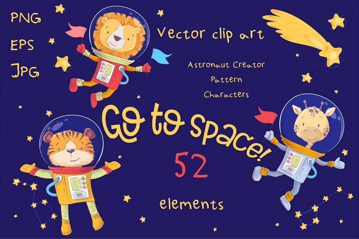Space vector clip art example image 1