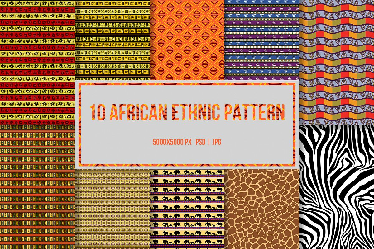 10 African Ethnic Patterns example image 1