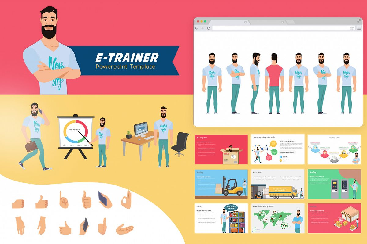 E-Trainer PowerPoint Template 1 example image 1